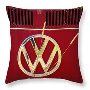 Vintage Vw Bus Logo Throw Pillow