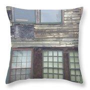 Vintage Warehouse Building Throw Pillow