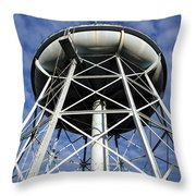 Vintage Water Tower Throw Pillow