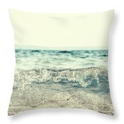 Vintage Waves Throw Pillow
