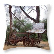 Vintage Well Driller 1 Throw Pillow