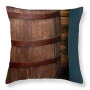 Vintage Wine Barrel Throw Pillow