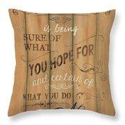 Vintage Wtlb Faith Throw Pillow