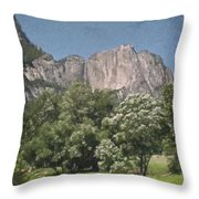 Vintage Yosemite Throw Pillow