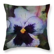 Viola In Violet Throw Pillow