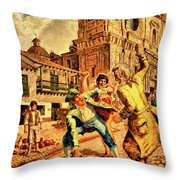 Violence Throw Pillow