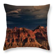 Violent Storm Over The North Rim Grand Canyon National Park Arizona Throw Pillow