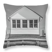 9 - Violet - Flower Cottages Series Throw Pillow