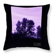 Violet And Black Trees  Throw Pillow