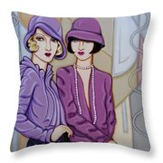 Violet And Rose Throw Pillow