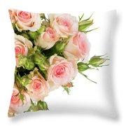 Bouquet Of Garden Roses Throw Pillow