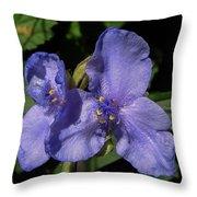 Violet Blooms Throw Pillow