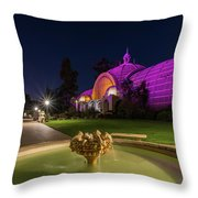 Violet Castles Throw Pillow