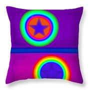 Violet Circus Throw Pillow