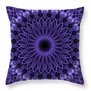 Violet Digital Mandala Throw Pillow
