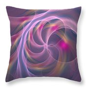 Violet Dreamy Feel Throw Pillow