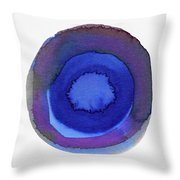 Violet Drops 1- Art By Linda Woods Throw Pillow