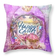 Violet Easter Throw Pillow