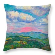 Violet Evening On Rocky Knob Throw Pillow