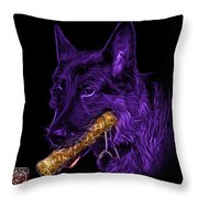 Violet German Shepard And Toy - 0745 F Throw Pillow
