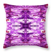 Violet Groove- Art By Linda Woods Throw Pillow