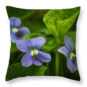 Violet In The Wild Throw Pillow