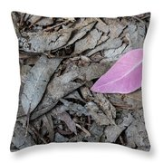 Violet Leaf On The Ground  Throw Pillow