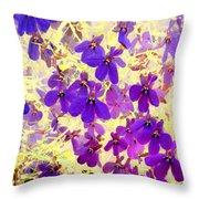 Violet Moths Throw Pillow