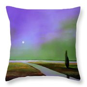 Violet Night Throw Pillow