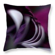 Violet Petals Throw Pillow