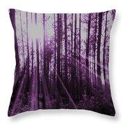 Violet Rays Throw Pillow