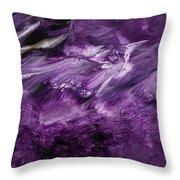 Violet Rhapsody- Art By Linda Woods Throw Pillow