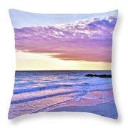Violet Skies At Nighfall Throw Pillow