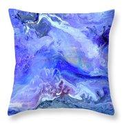 Violet Storm Throw Pillow