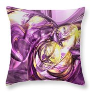 Violet Summer Abstract Throw Pillow