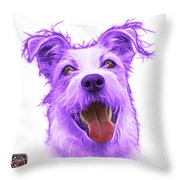 Violet Terrier Mix 2989 - Wb Throw Pillow