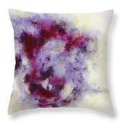 Violets Abstract Throw Pillow