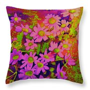 Violets Among The Heather Throw Pillow