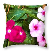 Violets Impression Throw Pillow