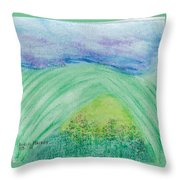 Violets In The Summertime Throw Pillow