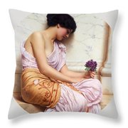 Violets Sweet Violets Throw Pillow