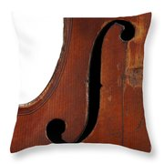Violin Clef Throw Pillow