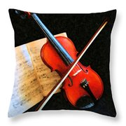 Violin Impression Throw Pillow