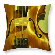 Violin In Yellow Throw Pillow