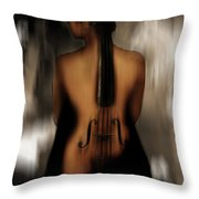 Violin Lady 05 Throw Pillow