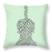 Violin Of Fame Throw Pillow