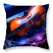 Violin On Piano Throw Pillow