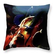 Violin Painting Art 321 Throw Pillow