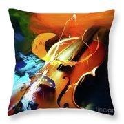 Violin Painting Art 51 Throw Pillow