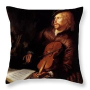 Violin Player 1653 Throw Pillow